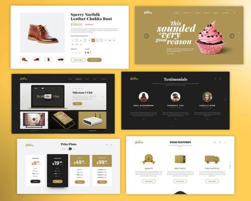 Milestone UI Kit Freebie