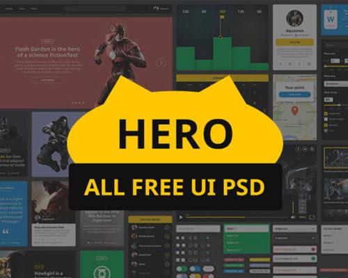 HERO free UI kit