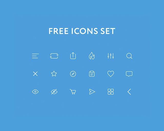 Free icons set PSD