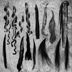 فرش فوتوشوب لتسريحات شعر نسائى