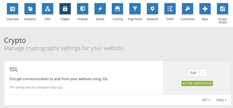 cloudflare شهادة الاعتماد على