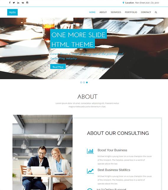 قالب HTML مناسب للعمل